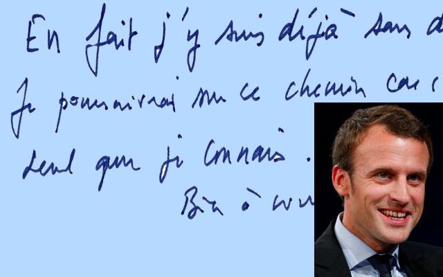 Graphologie | Macron