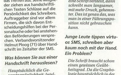 Münchner Merkur: Die Schönheit der Schrift ist sekundär